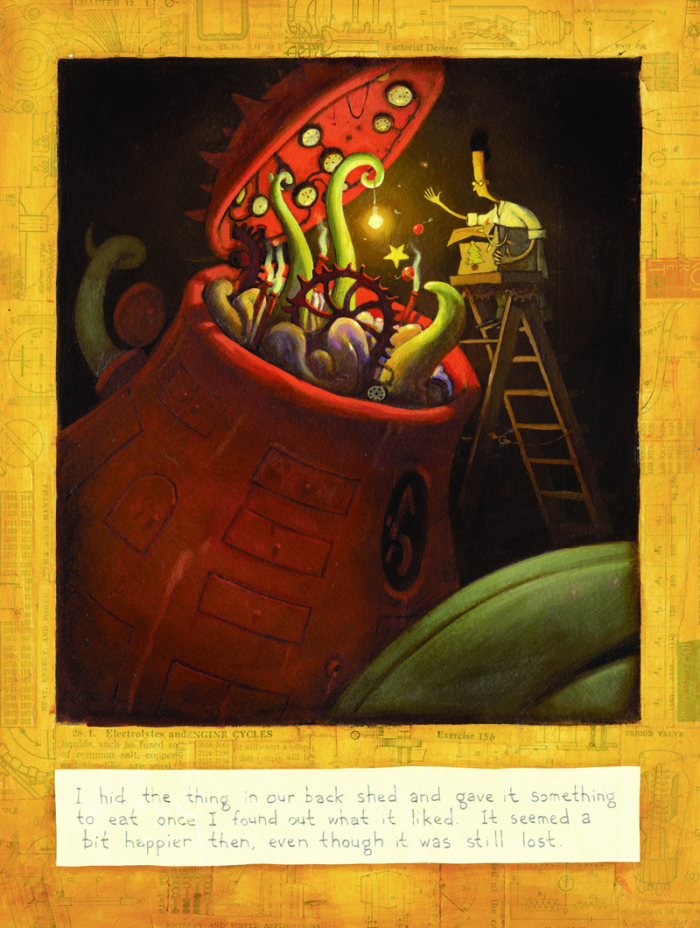 Illustration of The Lost Thing by Shaun Tan